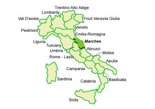Map Of Le Marche Region In Italy Cambodiatour Website 2019
